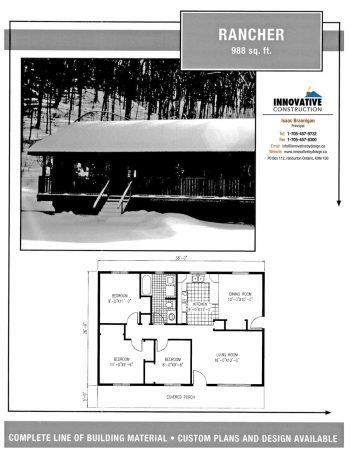 Innovative Construction Building Plan: RANCHER