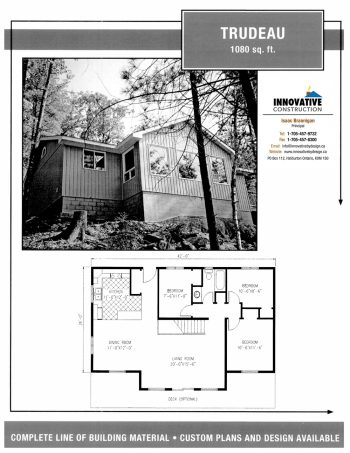 Innovative Construction Building Plan: TRUDEAU