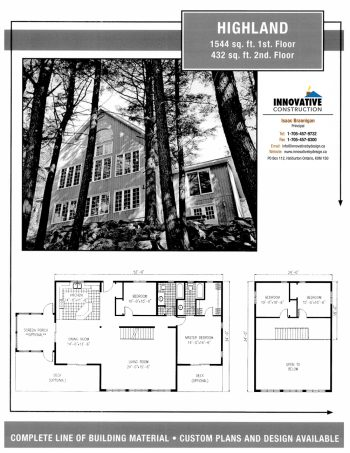 Innovative Construction Building Plan: HIGHLAND